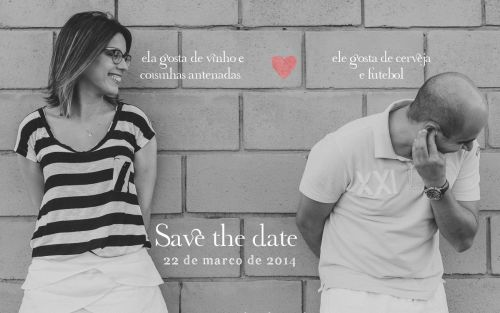 Save the date criativo