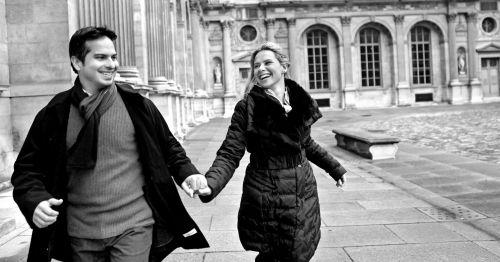 foto correndo em PARIS
