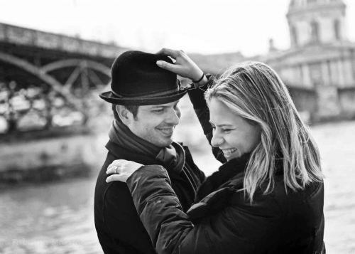 foto romantica no sena