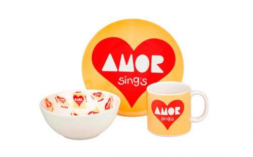 Jogo de porcelana da Tok Stok foi inspirado na marca de paçocas Amor