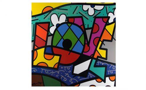 Poster do artista Romero Britto, comercializado pela Casa Pop