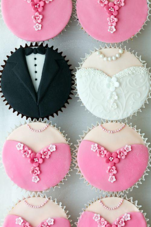 Cupcake noivos e madrinhas icasei