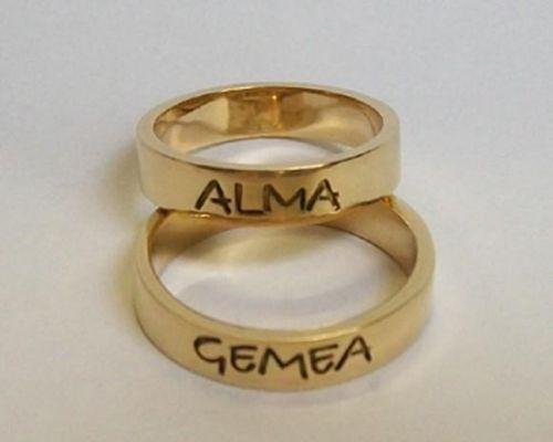 Alianças de casamento - Personalizada
