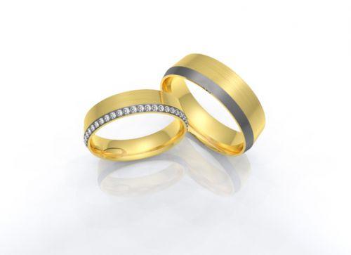 Alianças de casamento - Ouro com Brilhantes