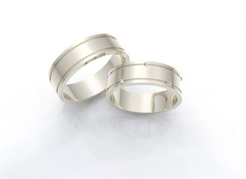 Alianças de casamento - Noivos - Ouro Branco