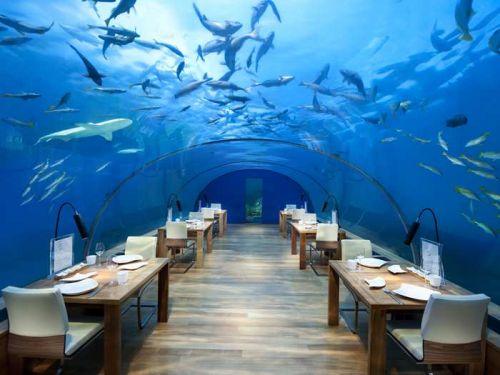 Ilhas Maldivas restaurante