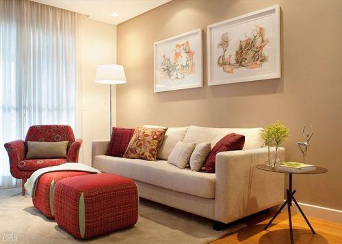 Casa nova decora o para a sala de apartamento for Sillones para departamentos