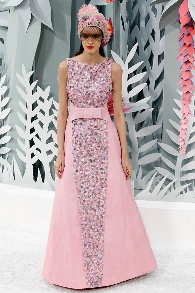 Chanel Alta Costura Paris 2015 Vestido Rosa