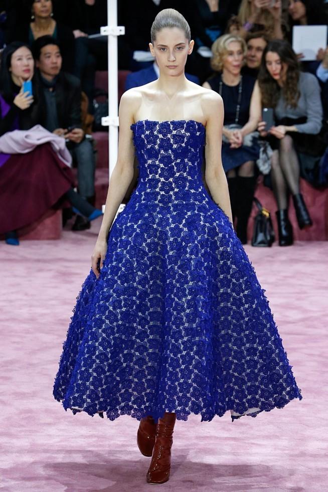 Dior Alta Costura Paris 2015 Vestido Azul