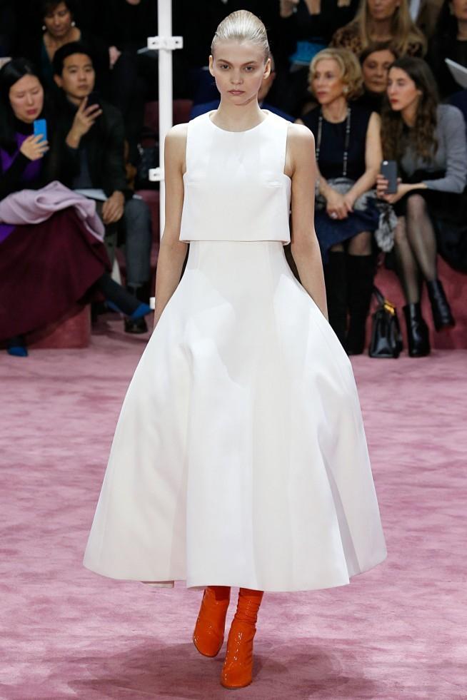 Dior Alta Costura Paris 2015 Vestido Branco