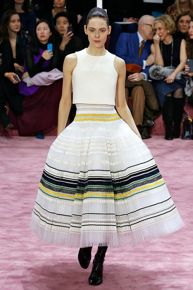 Dior Alta Costura Paris 2015 Vestido Listrado