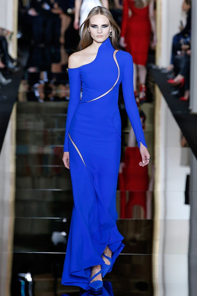 Versace Alta Costura Paris 2015 Vestido Azul
