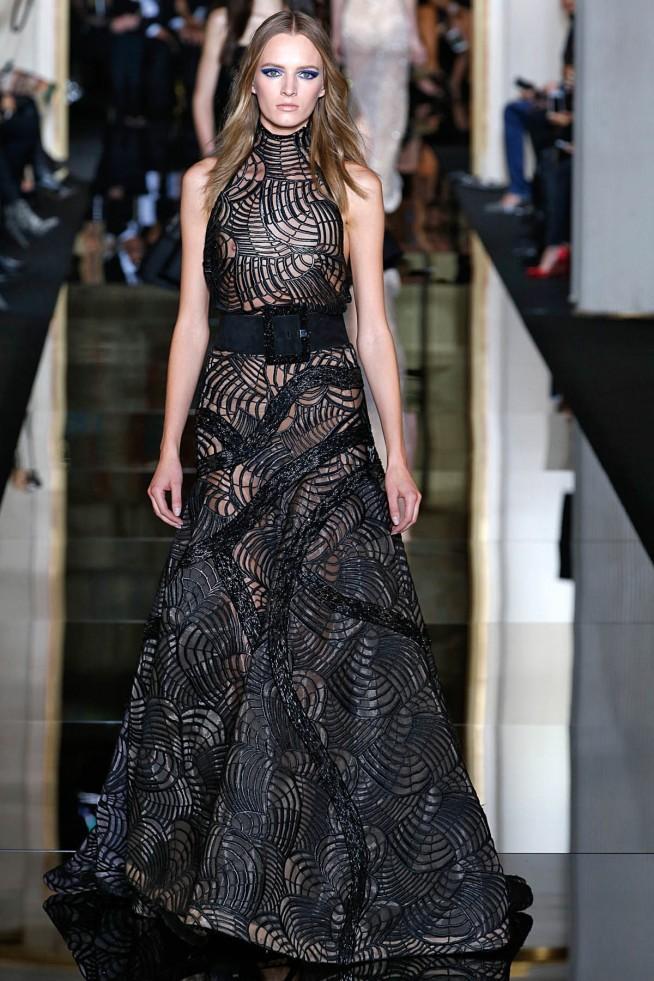 Versace Alta Costura Paris 2015 Vestido Preto