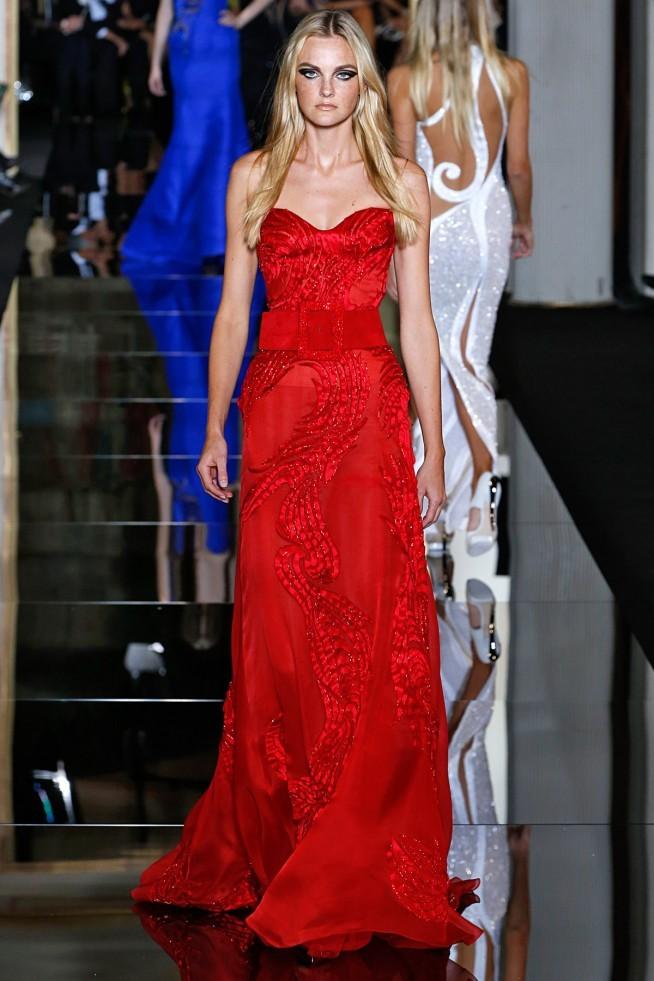 Versace Alta Costura Paris 2015 Vestido Vermelho