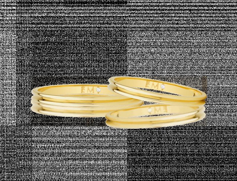 Aliança de casamento - Aliança Infinity Love Gold em ouro amarelo Monte Cristo