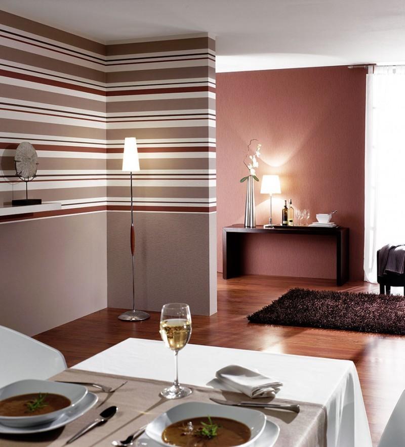 Ambiente decorado papel de parede