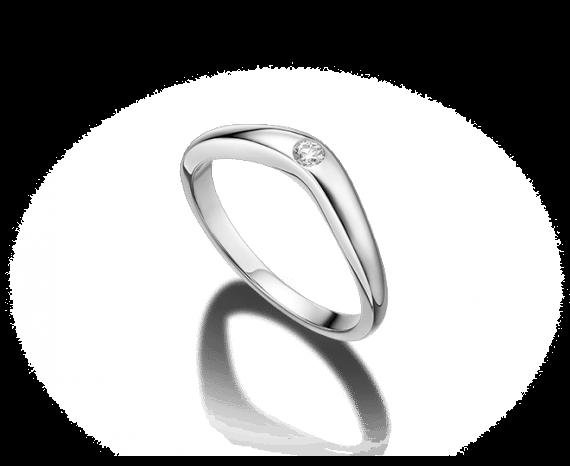 Aliança de casamento Corona em platina e diamante Bvlgari.