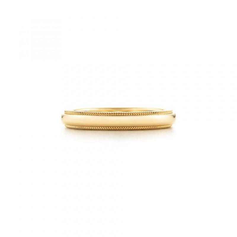 Aliança para casamento - Tiffany ouro amarelo - Redondas
