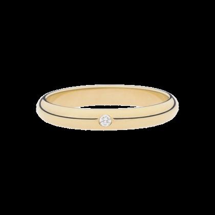 Aliança de casamento - Tiffany ouro amarelo - Redondas