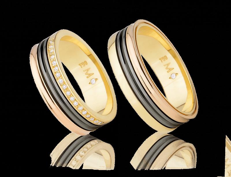 ebe85c948b295 Aliança Infinity Love Triple Bvlgari - Aliança ouro amarelo e rosa monte  cristo