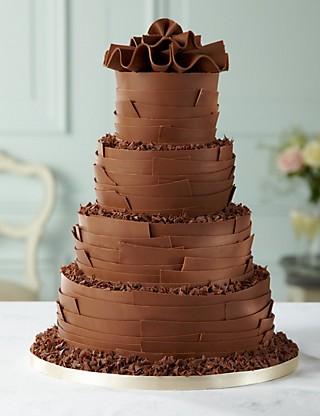 bolo de casamento com raspas de chocolate 2