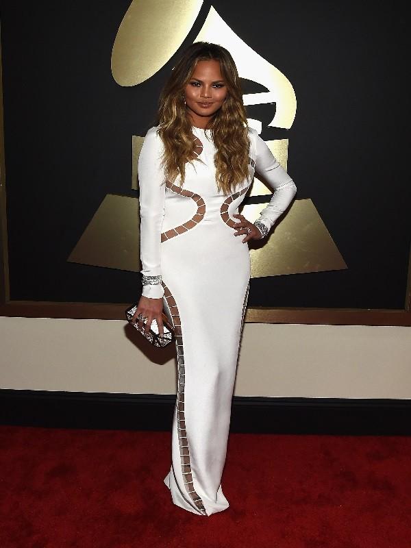 Chrissy Teigen de Gucci - Grammy Awards 2015