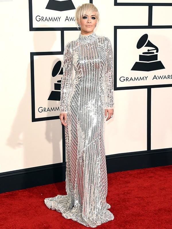 Rita Ora de Lanvin - Grammy Awards 2015