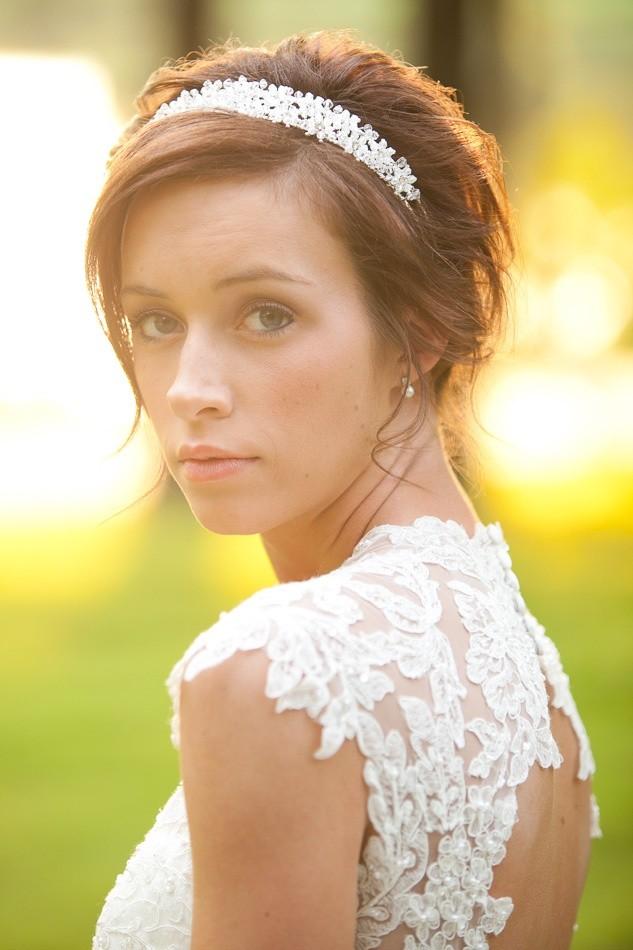 Noiva usando grinalda - Véu para casamento