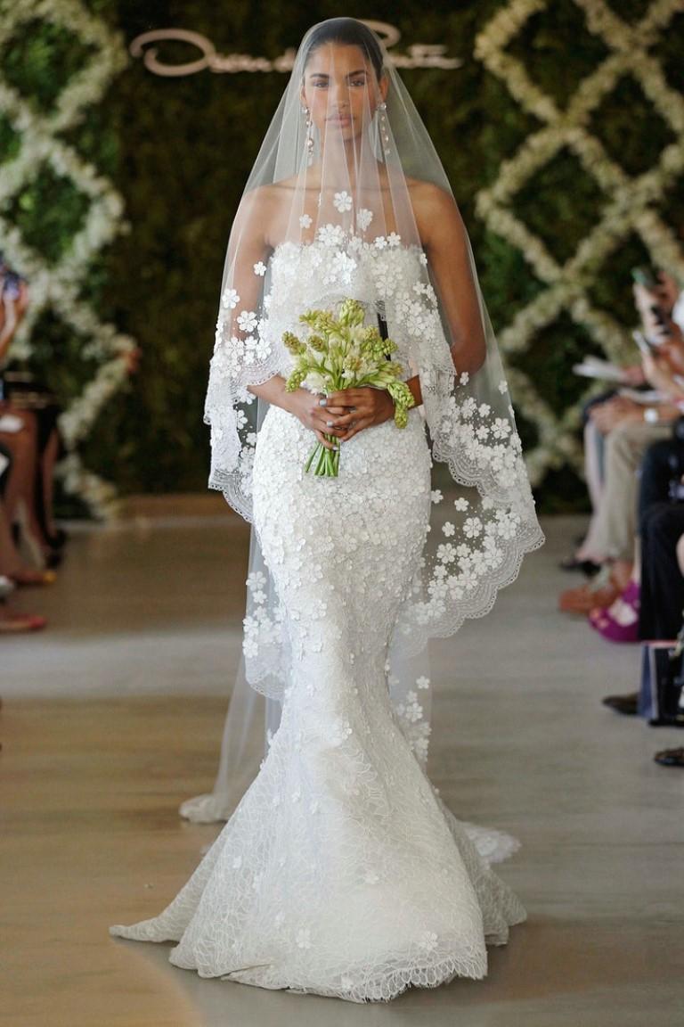 Desfile Oscar de la Renta - Mantilha Véu para Casamento