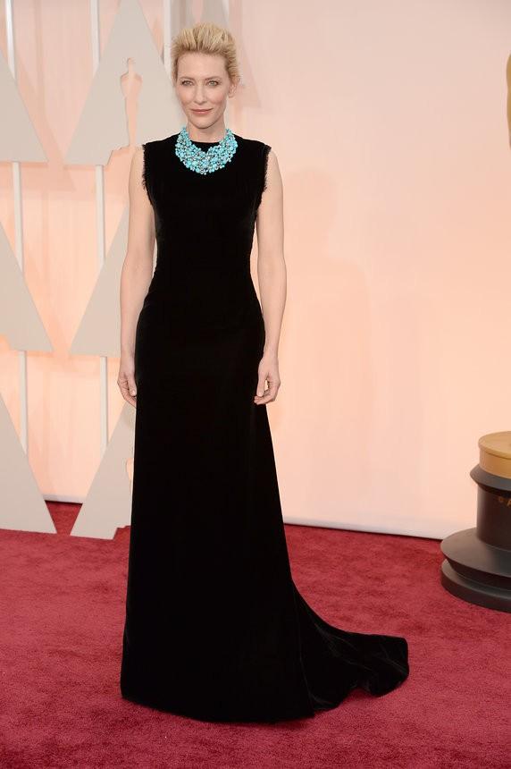 Cate Blanchett vestido preto de Martin Margiela Couture - Inspiração | Oscar 2015
