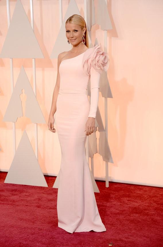Gwyneth Paltrow vestido rosa de Ralph & Russo Couture - Inspiração | Oscar 2015