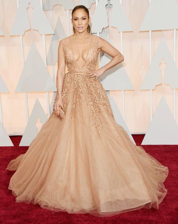 Jennifer Lopez vestido nude de Elie Saab - Inspiração | Oscar 2015