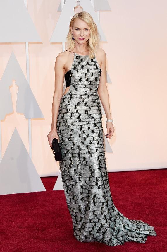 Naomi Watts vestido com brilhos de Armani - Inspiração | Oscar 2015