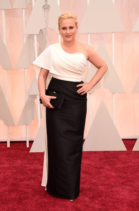 Patricia Arquette vestido preto e branco de Rosetta - Inspiração | Oscar 2015