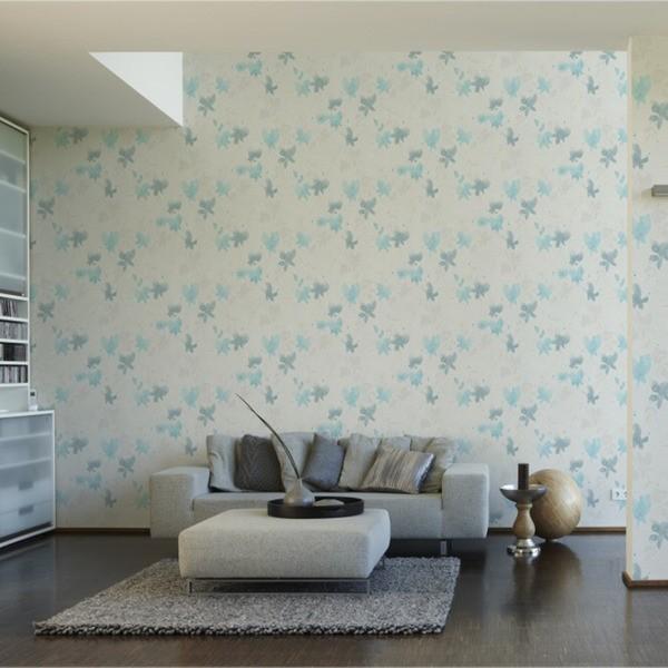 papel de parede floral aplicado Leroy Merlin
