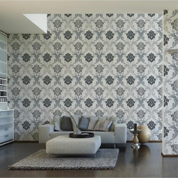 papel de parede textura cinza para decorar a casa nova