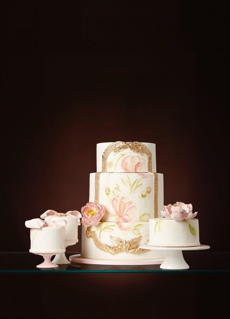 Bolo de casamento pintado a mão - the king cake