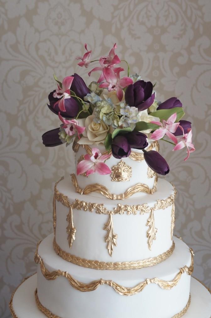bolo de casamento - flores de açúcar - Nelson - The King Cake (4)