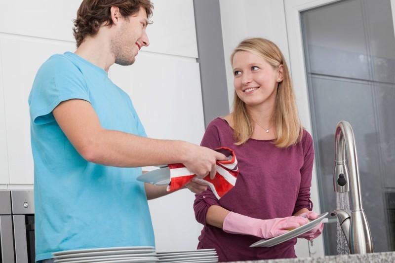 divisão das tarefas domésticas recém-casados
