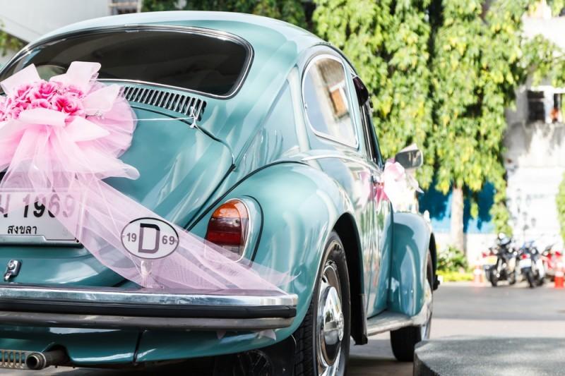 passeata de carros - casamento na Itália