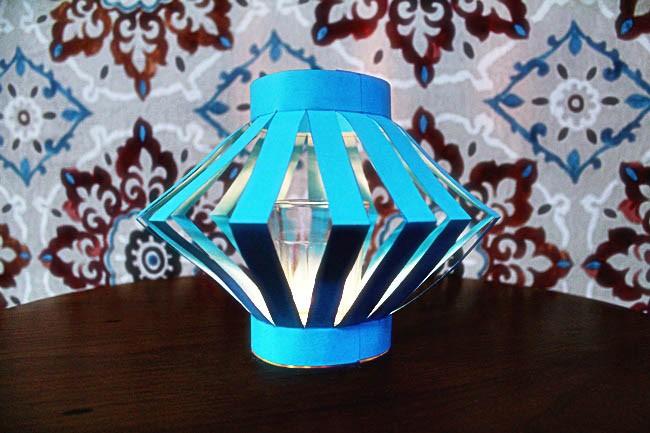 DIY para casamento - luminária de papel