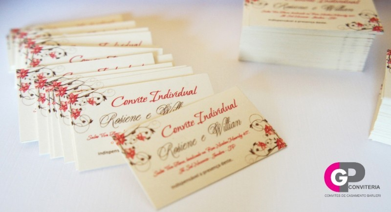convite individual - convite para casamento