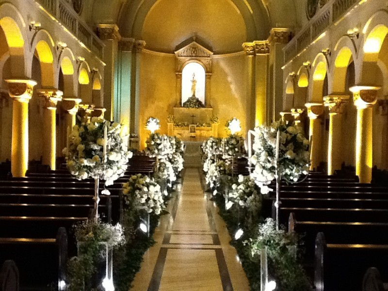 10 Inspirações de decoraç u00e3o de igreja para casamento -> Fotos Decoração De Igreja Para Casamento Simples