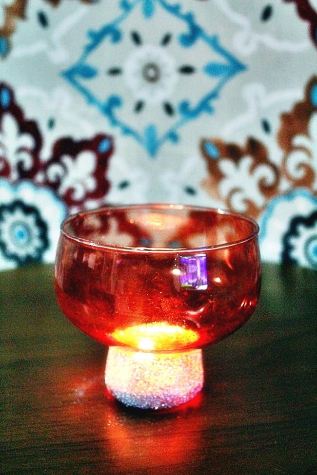luminária de vidro - DIY para casamento
