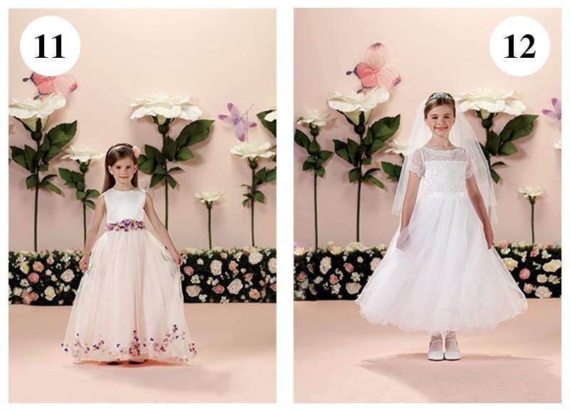 Vestido com flores aplicadas by Tutti Sposa-Vestido com saia rodada e tule por cima do tecido by Tutti Sposa