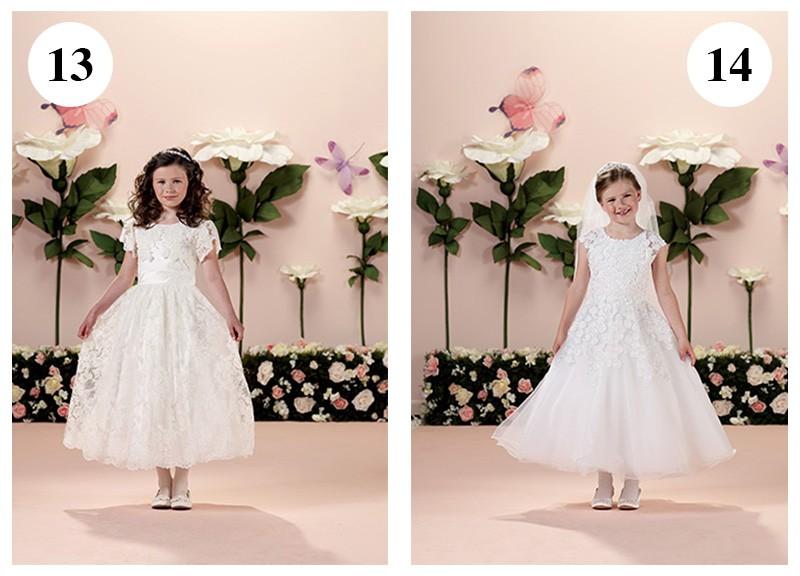 Vestido com mangas e rendas by Tutti Sposa-Vestido com flores aplicadas by Tutti Sposa