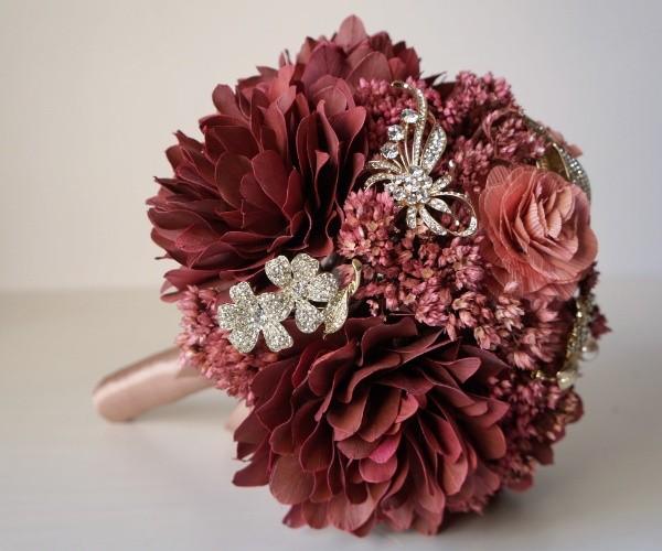 buquê de flores secas