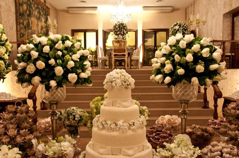 Decoraç u00e3o para casamento Branco -> Fotos Decoração De Igreja Para Casamento Simples