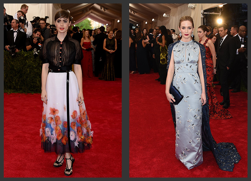 lily-collins-chanel-emily-blunt-prada-met-gala-2015