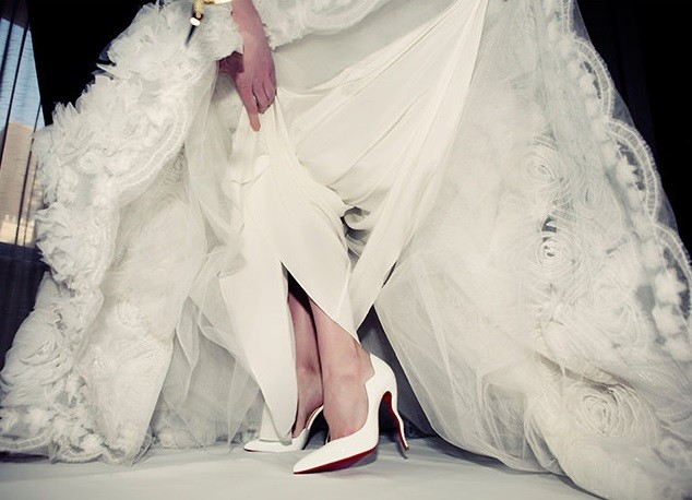 Image result for nude louboutins wedding bride